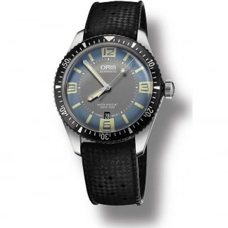 Men's Blue Dial Divers Sixty-Five Iconic Revival Watch 01 733 7707 4065-07 4 20 18