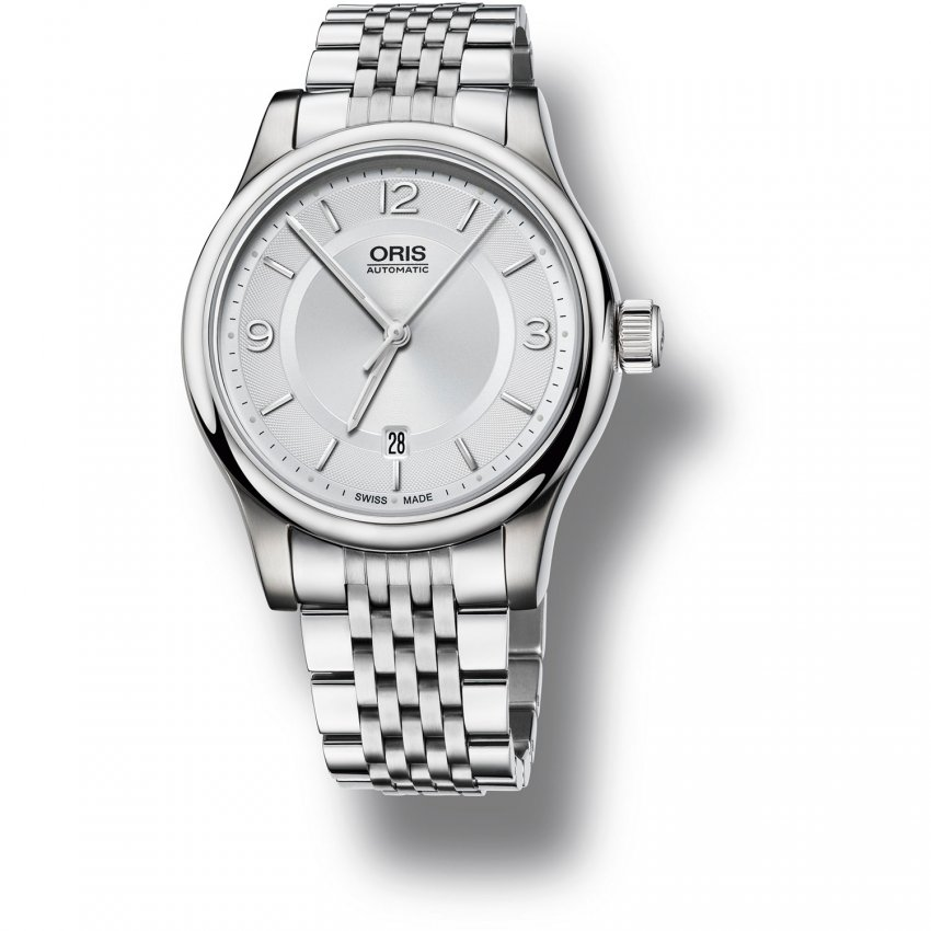 ORIS Men's Classic All Steel Swiss Dress Watch 01 733 7594 4031-07 8 20 61