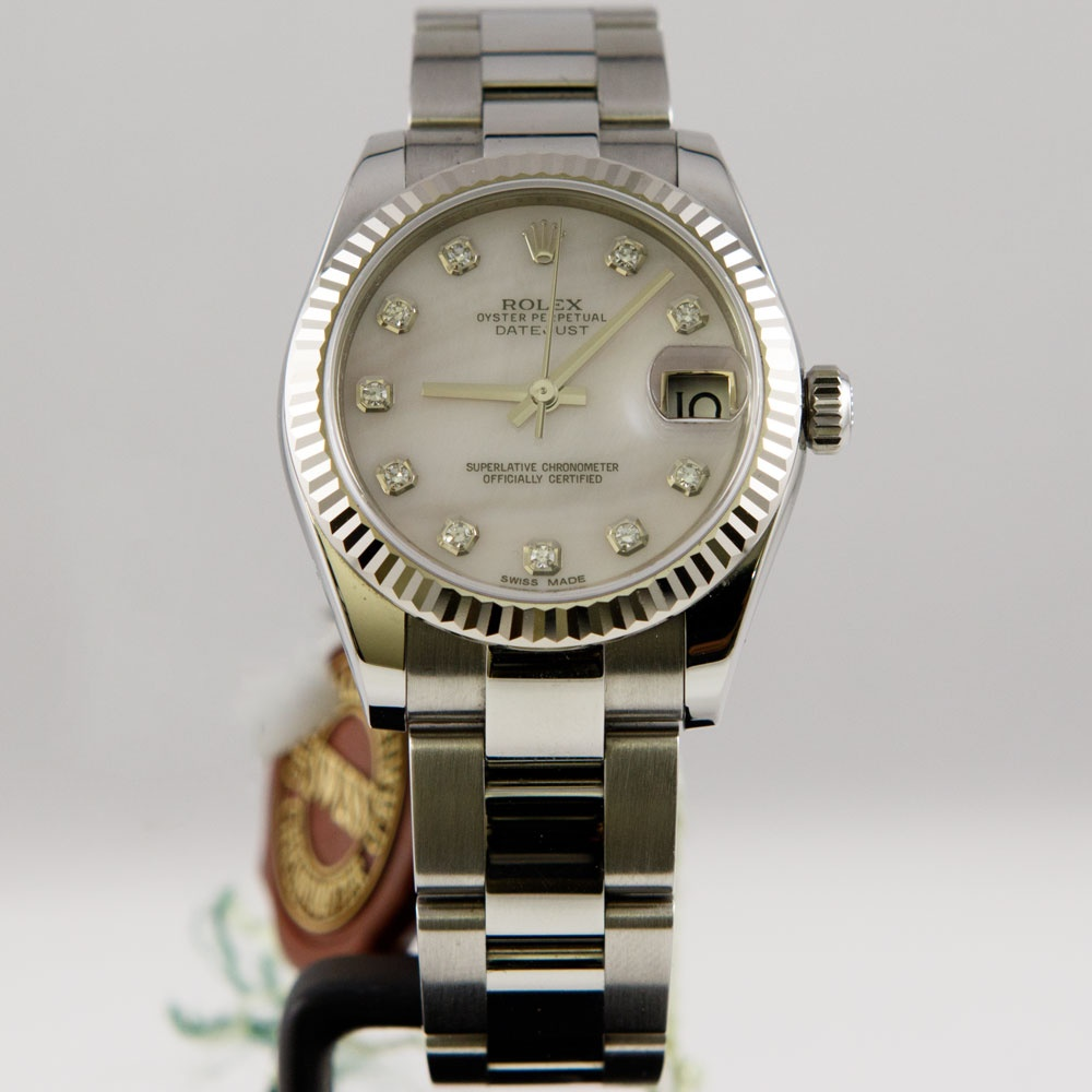 Oyster perpetual diamond datejust lady 31 178274 2014 for Rolex date just 31