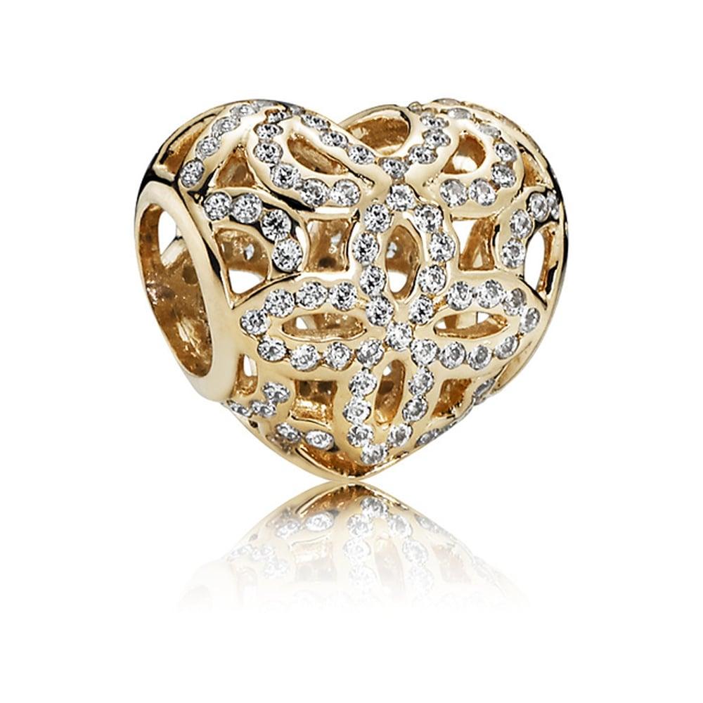 Pandora 14ct Gold Love & Appreciation Openwork Charm