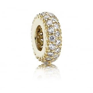 14ct Gold Pavé Inspiration Spacer Charm