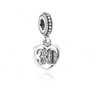 30th Birthday Dangly Charm