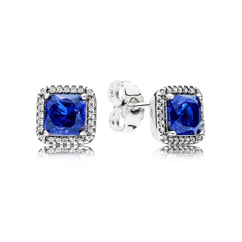 4ea64fad7 Pandora Blue Timeless Elegance Stud Earrings Product Code: 290591NBT