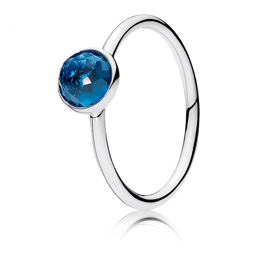 PANDORA December Droplet Birthstone Ring 191012NLB