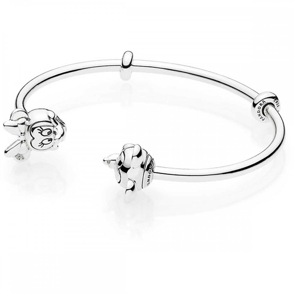 84d6d2bc8 Pandora Disney, Mickey and Minnie Open Bangle - Jewellery from ...