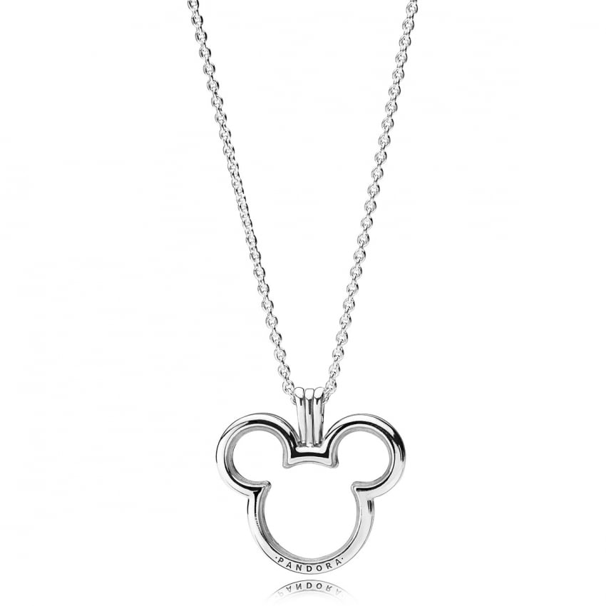 PANDORA Disney, Mickey Locket Necklace 397177