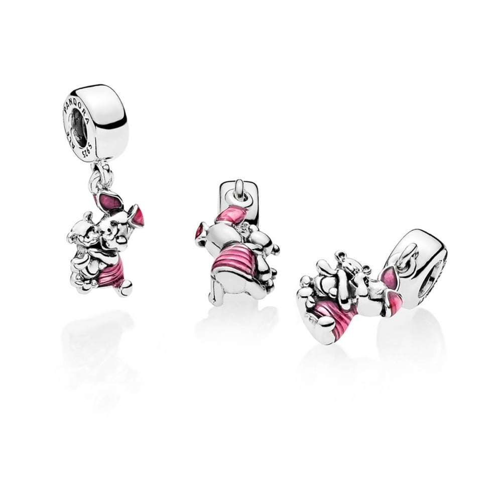 10 pcs Winnie The Pooh Piglet Jewelry Making Metal Figures Pendant Charms SET