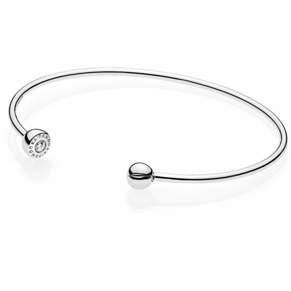 920b87f9f Pandora ESSENCE Silver Open Bangle - Jewellery from Francis & Gaye ...