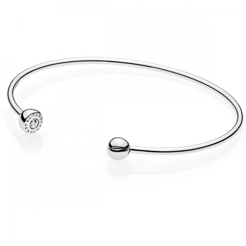 PANDORA ESSENCE Silver Open Bangle 597229CZ