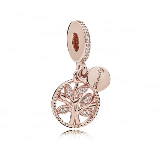 Family Heritage Rose Dangle Charm