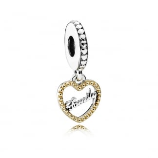 Family Script Dangly Charm