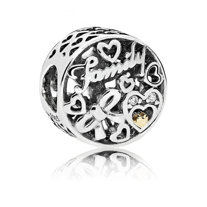 PANDORA Family Tribute Bi-Colour Charm 796267CZ
