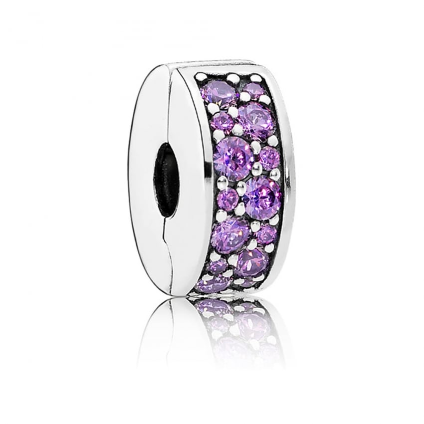 PANDORA Fancy Purple Shining Elegance Spacer Clip 791817CFP
