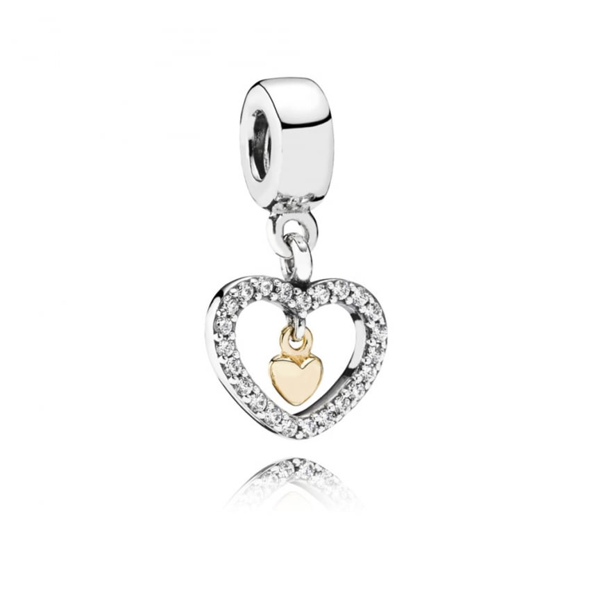 PANDORA Forever In My Heart Dangly Charm 791421CZ