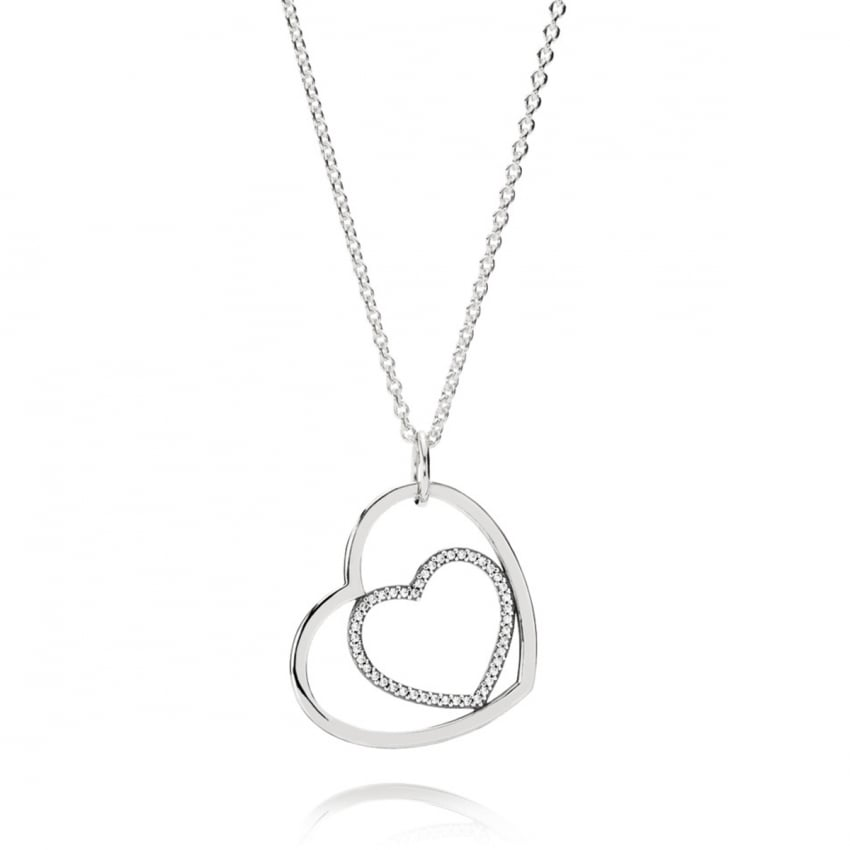 PANDORA Forever In My Heart Pendant Necklace 390364CZ-90