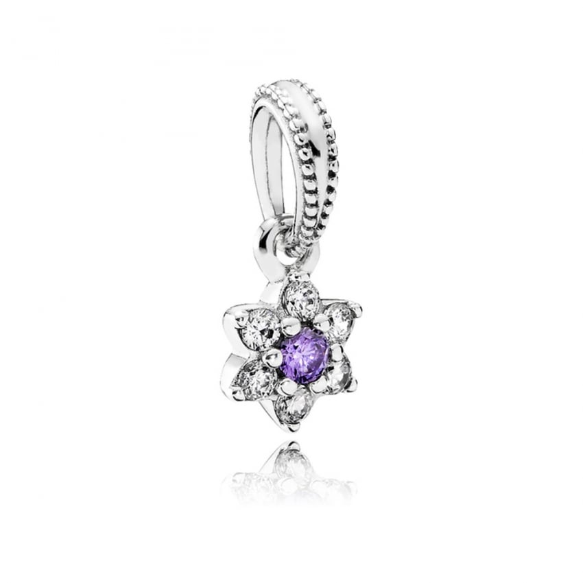PANDORA Forget Me Not Dangly Charm 791833ACZ