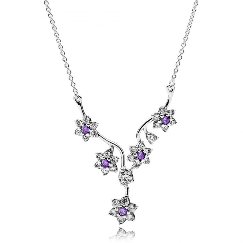 PANDORA Forget Me Not Necklace 590519ACZ-45