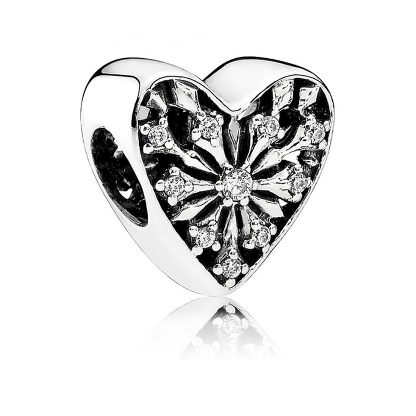 PANDORA Frosted Heart Charm 791996CZ