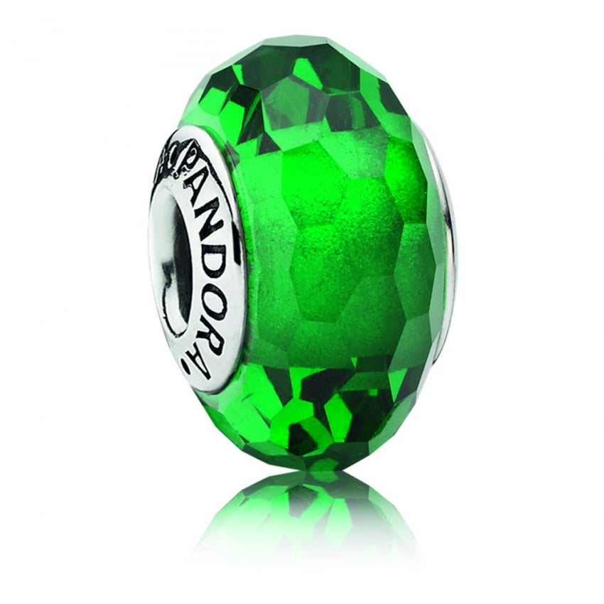 PANDORA Green Faceted Charm 791619