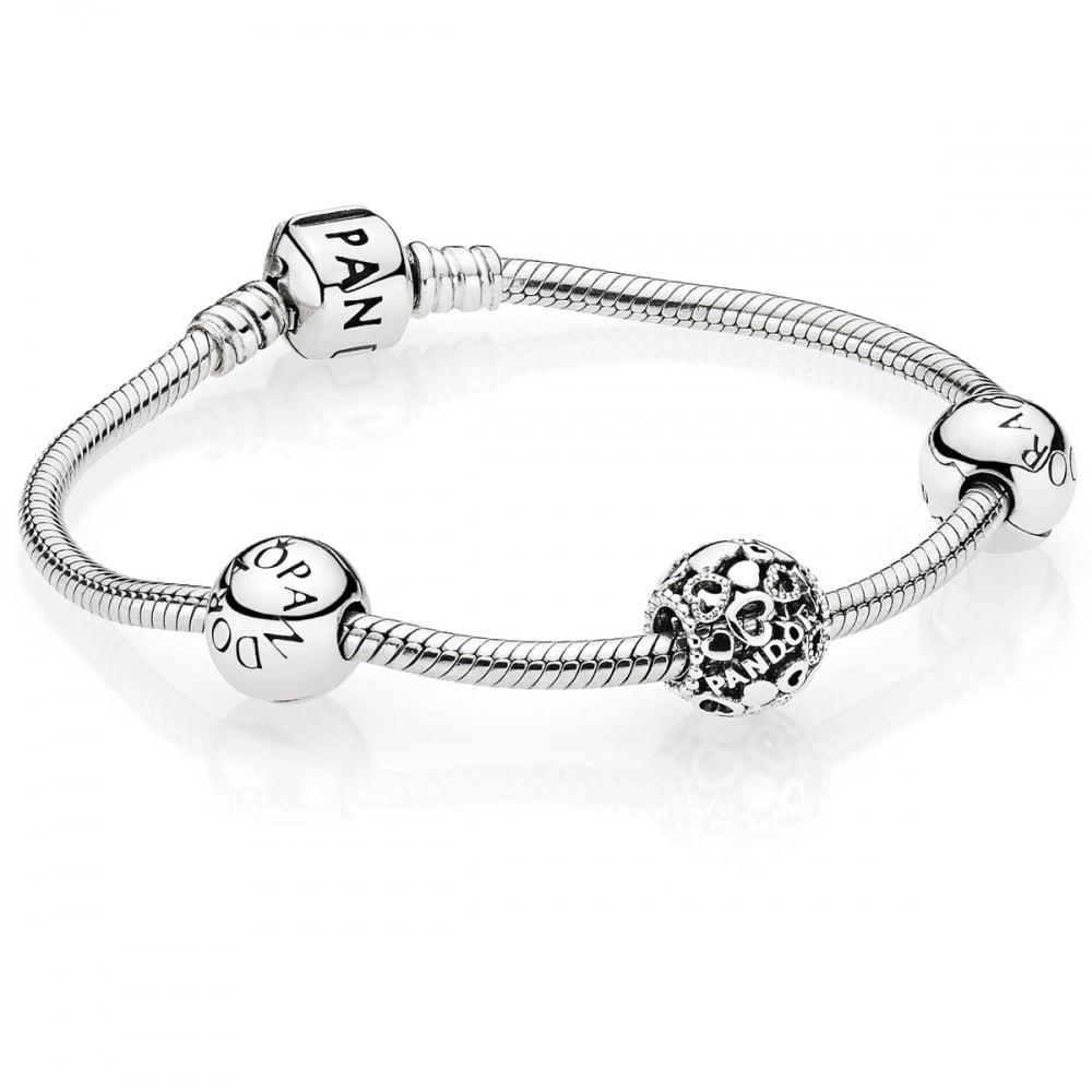 Pandora Heart Logo Script Bracelet