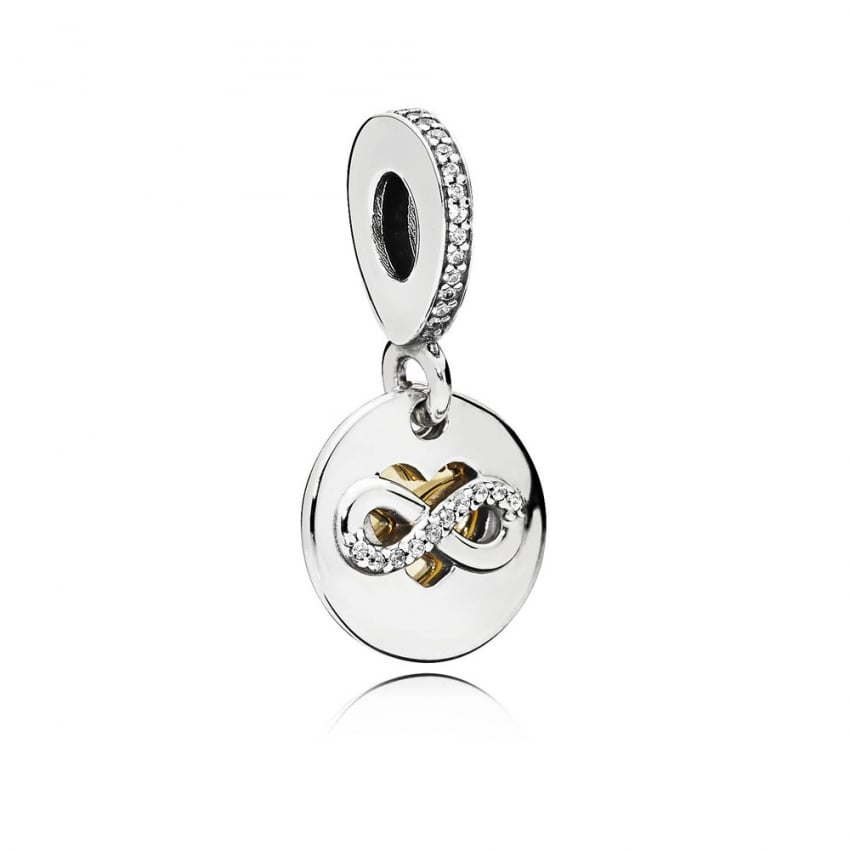PANDORA Heart of Infinity Bi-Colour Dangly Charm 796200CZ