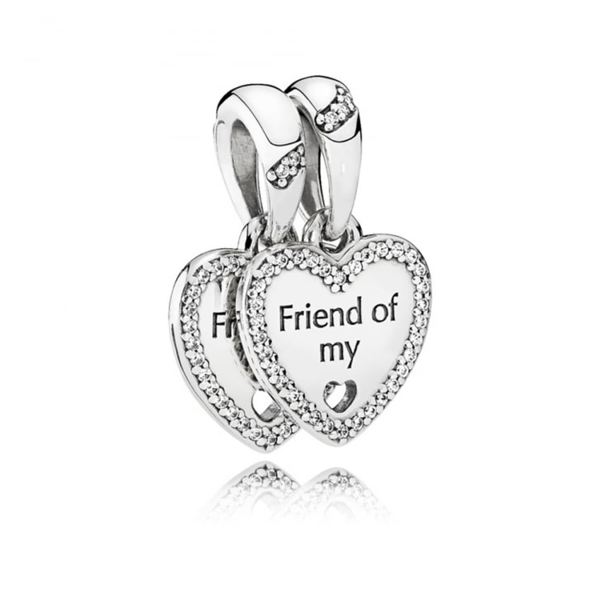 PANDORA Hearts of Friendship Dangly Charm 792147CZ