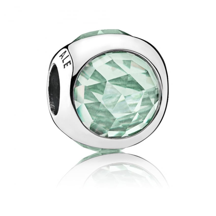 PANDORA Icy Green Radiant Droplet Charm 792095NIC