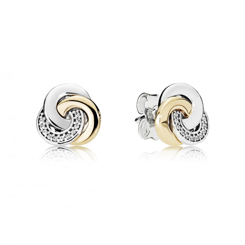 PANDORA Interlinked Circles Stud Earrings 290741CZ