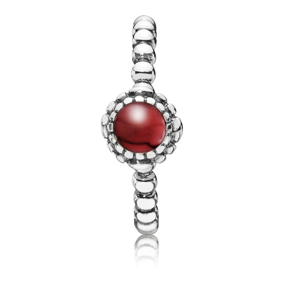 83bbd307ca356 Pandora January Birthstone Ring