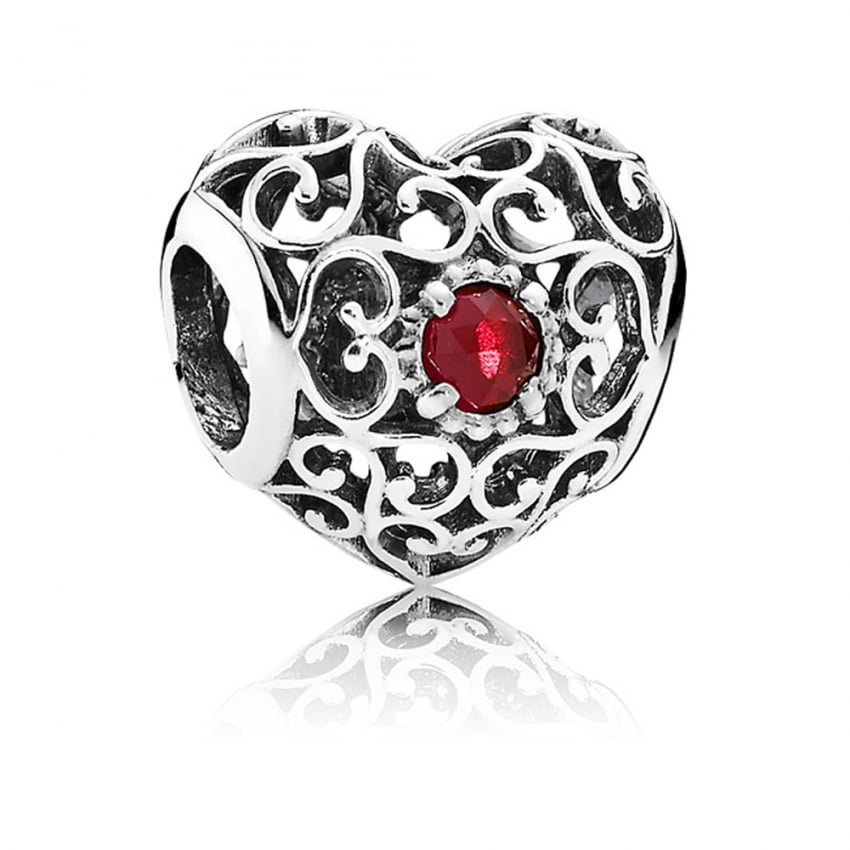 PANDORA July Birthstone Heart Charm 791784SRU