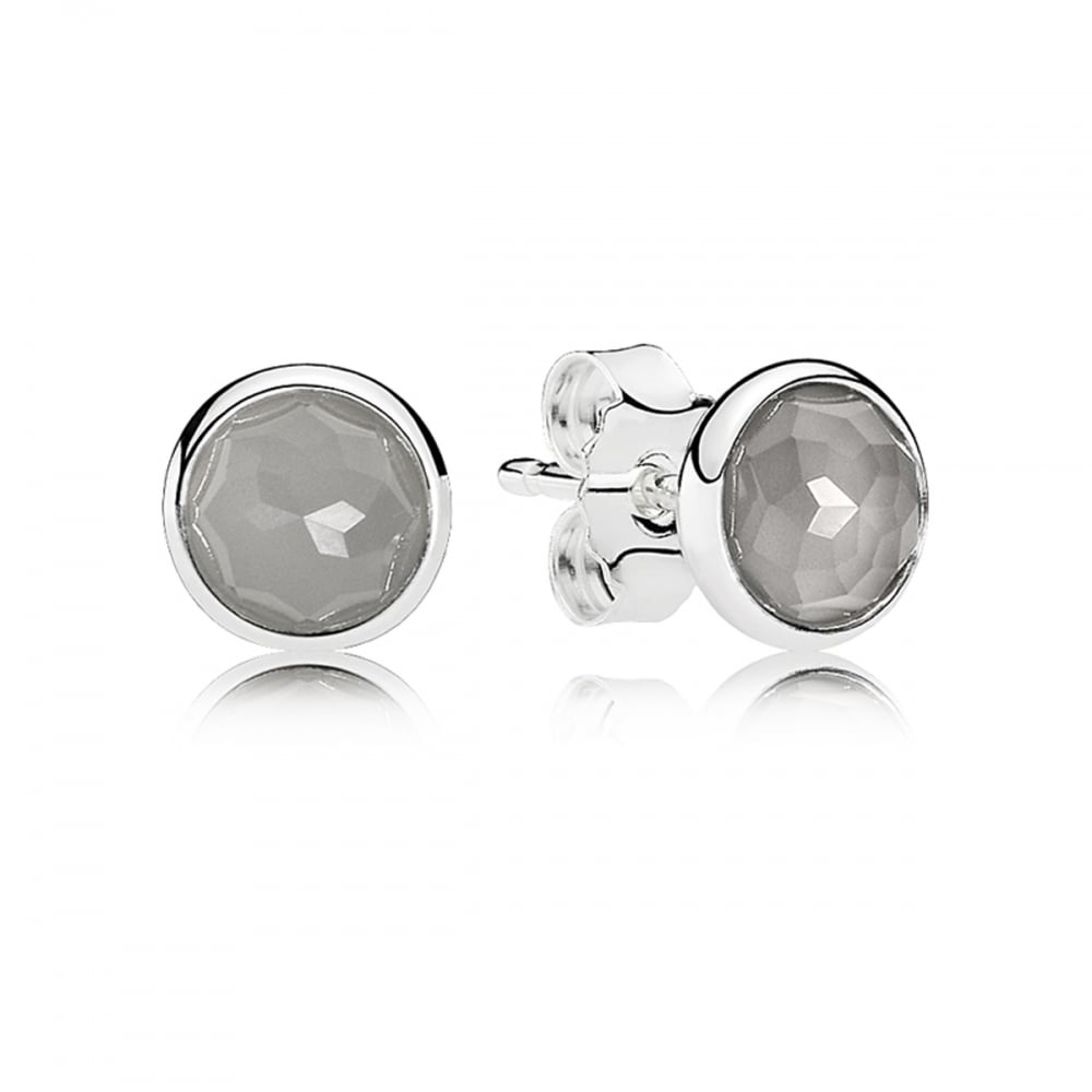 Pandora Moonstone Earrings: Pandora June Droplets Stud Earrings