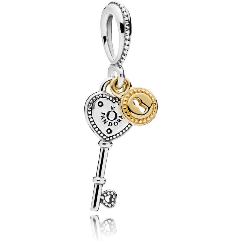 PANDORA Key to My Heart Pendant Charm 796593