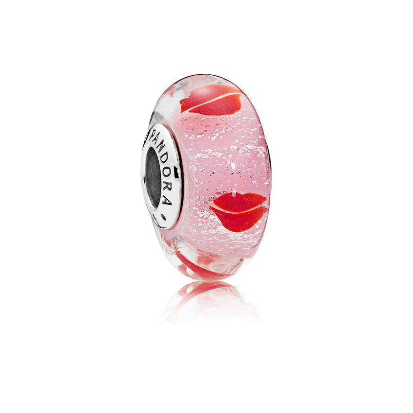 PANDORA Kisses All Around Glass Murano Charm 796598