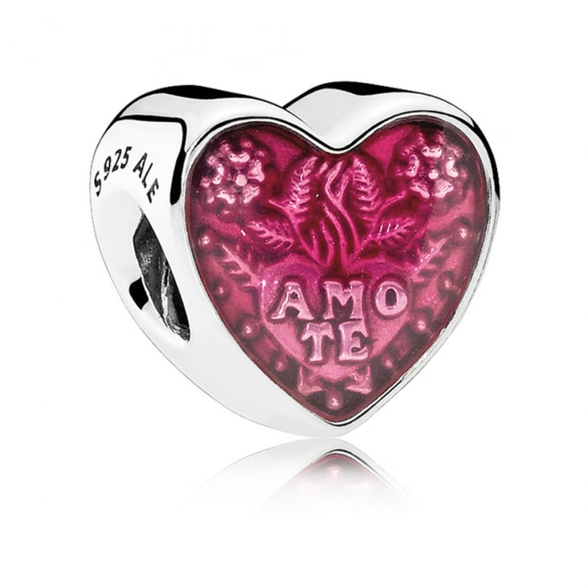 PANDORA Latin Love Heart Charm 792048EN117
