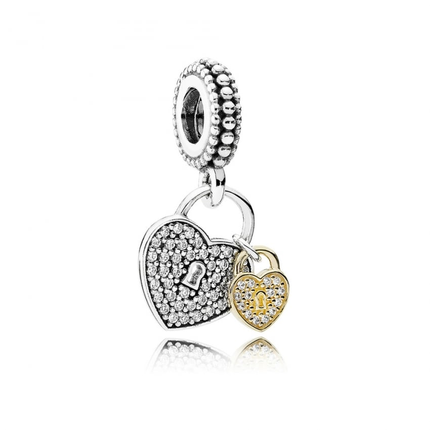 PANDORA Love Locks Dangly Charm 791807CZ