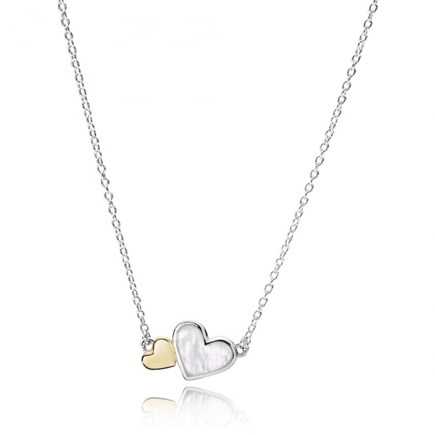 PANDORA Luminous Hearts Necklace 590521MOP-45