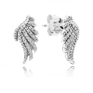 Majestic Feathers Stud Earrings