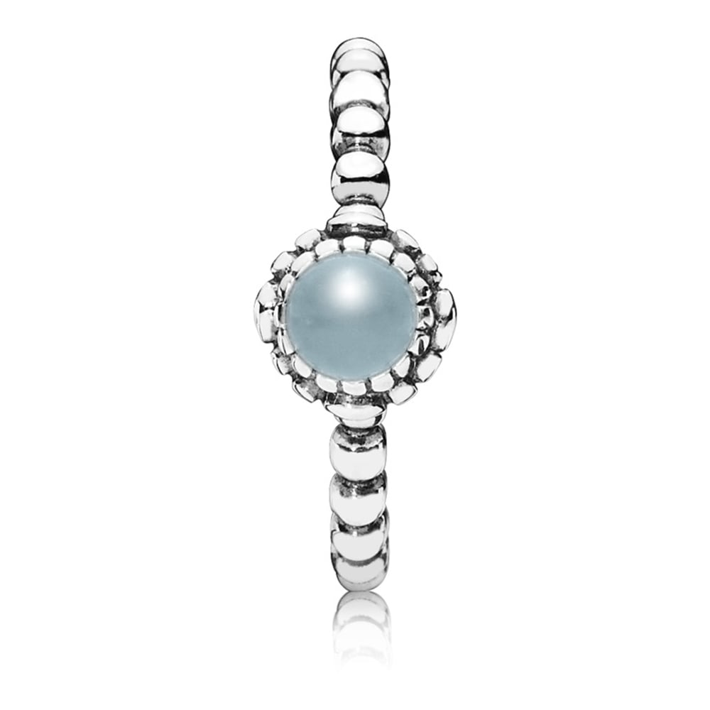 9376b5c5e0e99 Pandora March Birthstone Ring