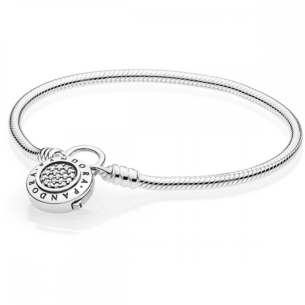 Pandora Moments Pavc Padlock Clasp Snake Chain Bracelet Jewellery From Francis Gaye Jewellers Uk