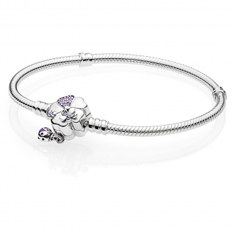 Moments Silver Bracelet, Wildflower Meadow Clasp
