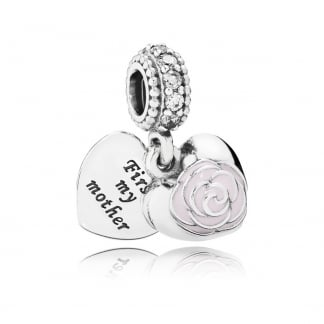 Mother's Rose Dangly Charm