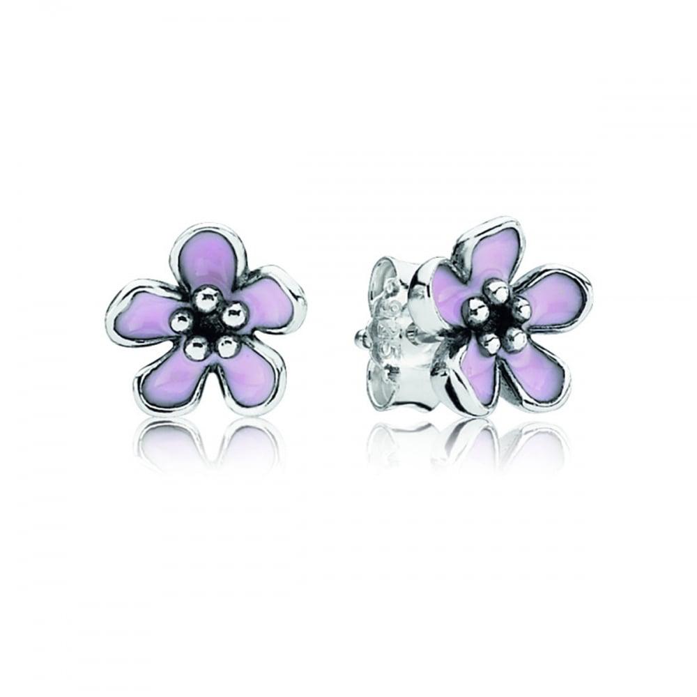 466a841fe Pandora Pink Cherry Blossom Flower Stud Earrings Product Code: 290537EN40