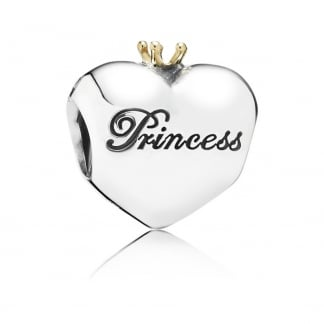 Pink Princess Heart Charm
