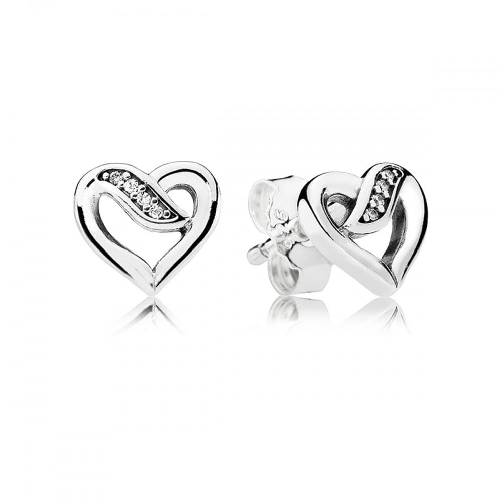 7faa6108ac823 Pandora Ribbon of Love Stud Earrings