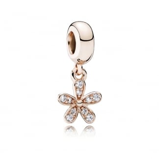 ROSE Dazzling Daisy Dangly Charm