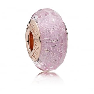 Rose Pink Shimmer Glass Charm