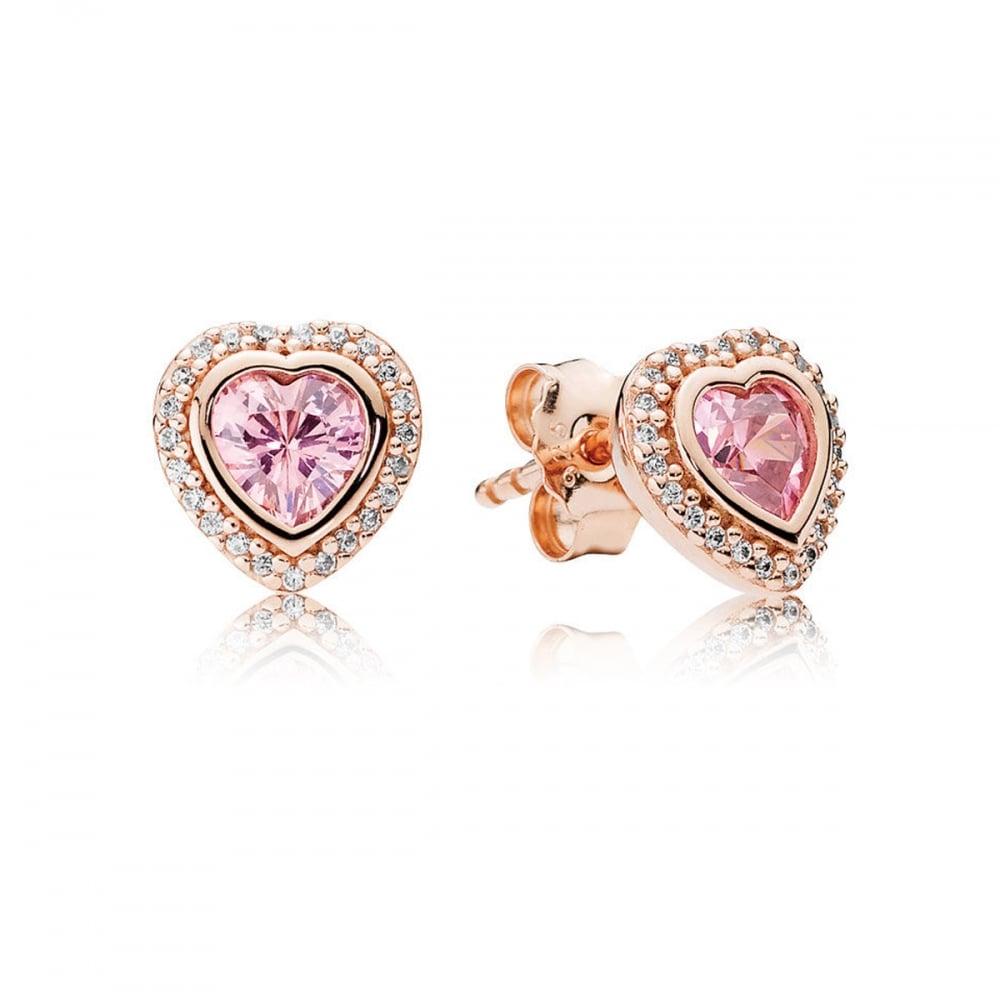 80ba187e8 Pandora Rose Pink Sparkling Love Stud Earrings Product Code: 280568PCZ