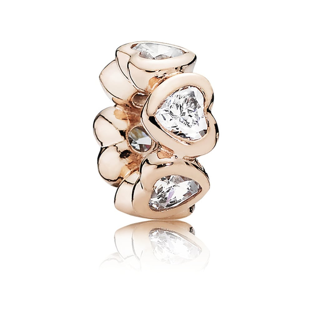 049ab21a5 Pandora ROSE Sparkling Hearts Spacer Charm Product Code: 781252CZ