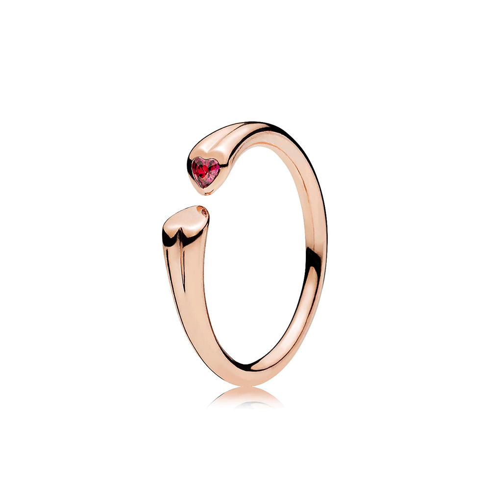 0b46c5c89 usa pandora silver 14ct gold rose and heart ring 15dec 05ff4