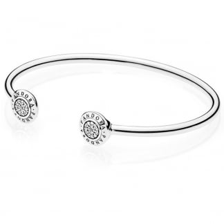 Signature Open Silver Bangle